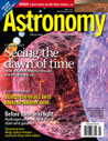 brightly coloured cover of astronomy magazine