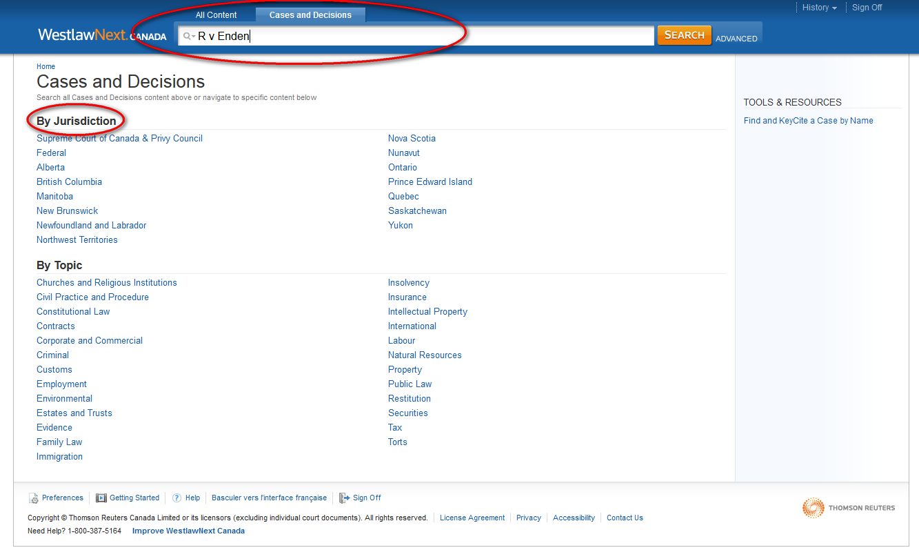 searching by case name in westlaw