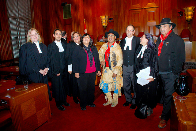 photo of various people involved in Tsilhqot'in Nation v. British Columbia, 2014 SCC 44