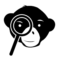 monkey with magnifying glass