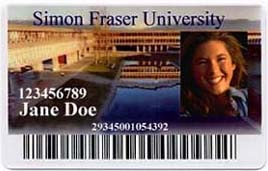 SFU Library card example
