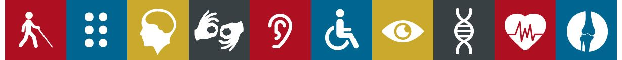 common images used to designate or illustrate certain type of disabilities
