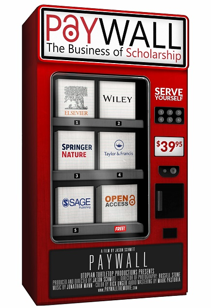 a vending machine with publishers as products to choose from