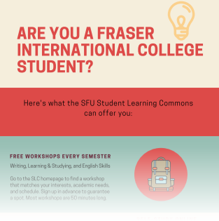 small image of the poster for slc services to fic students