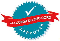 co-curricular record approved badge