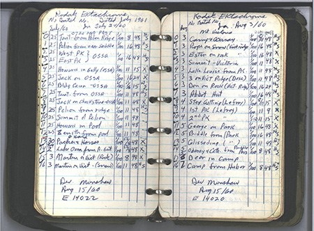 Logbook from Chambers
