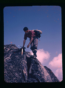 Paddy Sherman on Craggy Peak