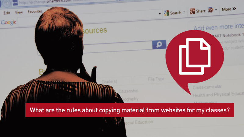 Using web materials in courses