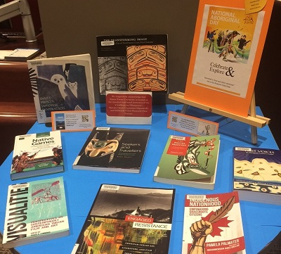 Book display at Belzberg Library