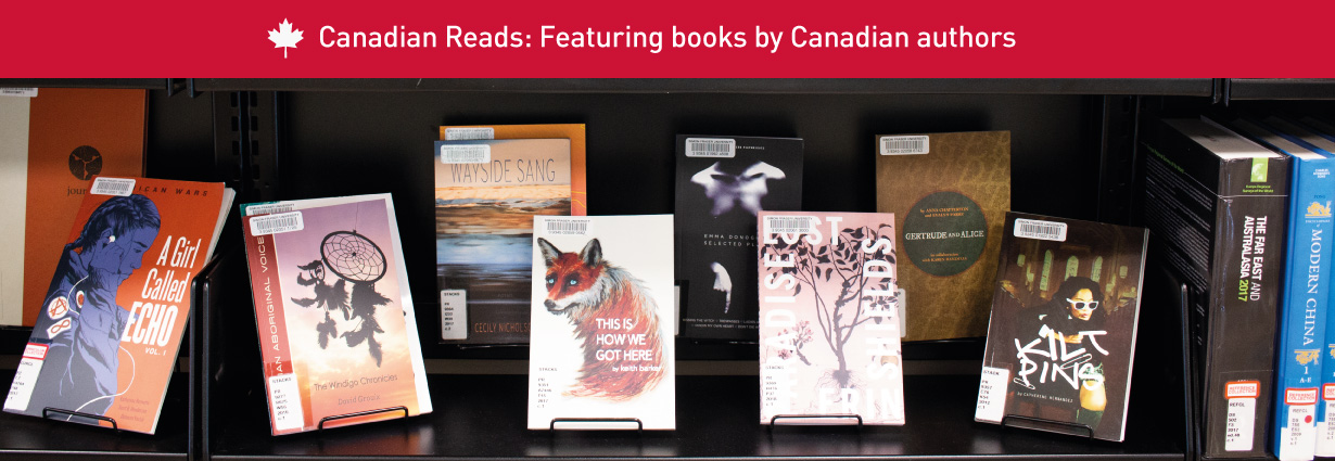 Canadian Reads: display of books on shelf