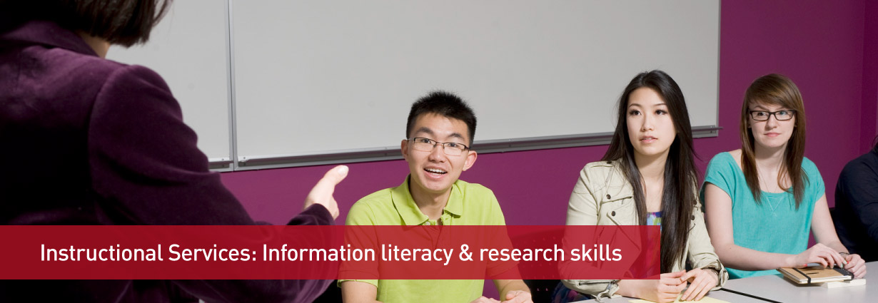 Instructional services: Information literacy & research skills