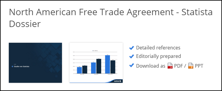 North American Free Trade Agreement - Statista Dossier (image with link)