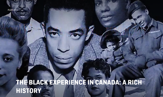 The Black community in Canada: a rich history. Photo montage of Black Canadians who fought racism from the 1930s to 1960s, including Viola Desmond.