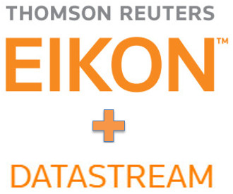 Image with words: Thomson Reuters Eikon + Datastream