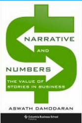 "Image of the book cover of ""Narrative and Numbers"" by Prof. Damodaran."