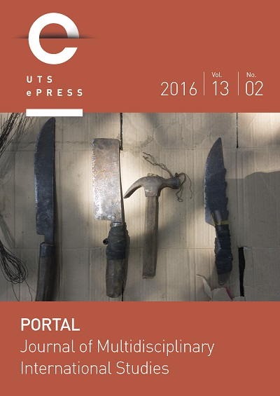 Cover of journal: Portal: Journal of Multidisciplinary International Studies