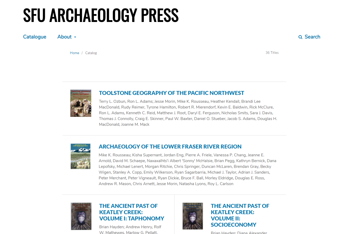 SFU Archaeology Press
