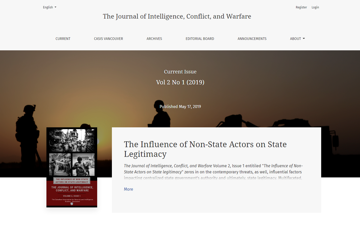 The Journal of Intelligence, Conflict, and Warfare