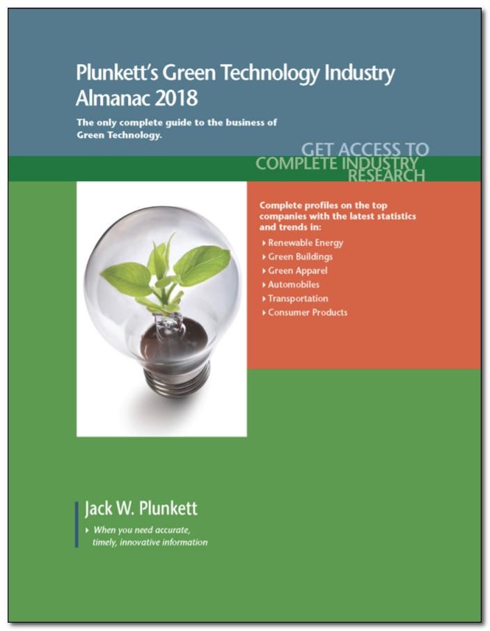 Cover of Plunkett's Green Technology Industry Almanac 2018