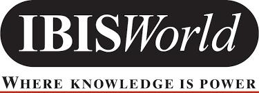 "logo of IBISWorld, with motto ""Where knowledge is power"" below it"