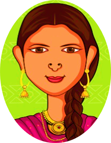 image of an Indian woman with a braid