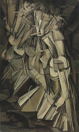 Marcel Duchamp's painting, Nude Descending a Staircase.