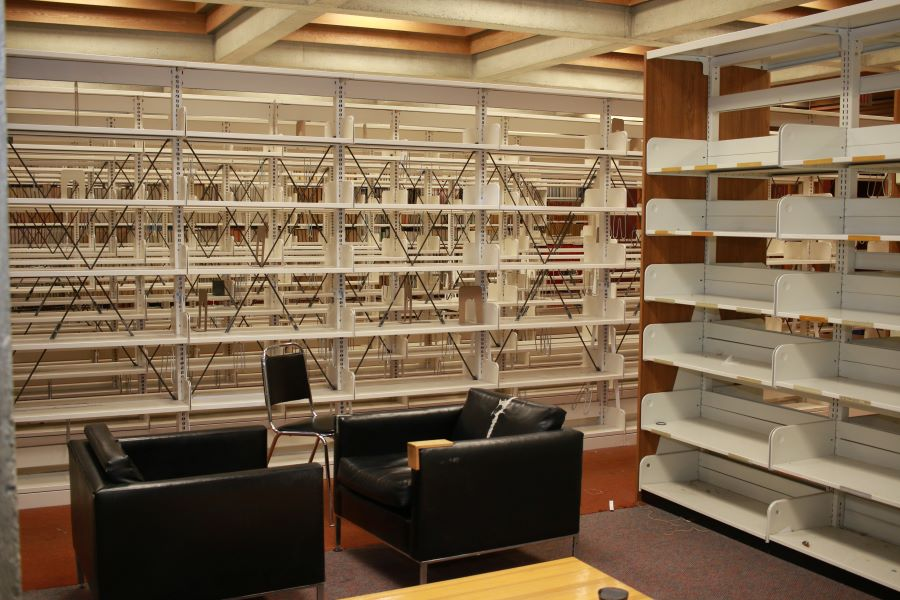 picture of the old empty stacks and chairs