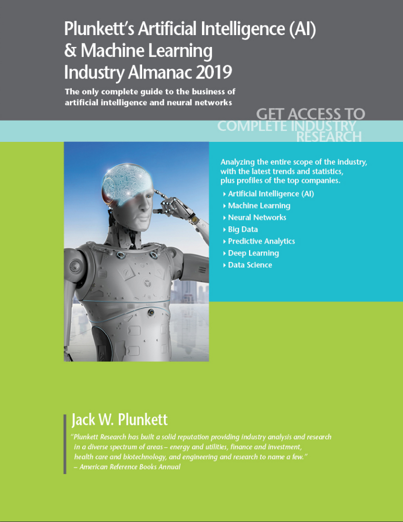 Cover of Plunkett's Artificial Intelligence & Machine Learning volume. Links to fulltext.