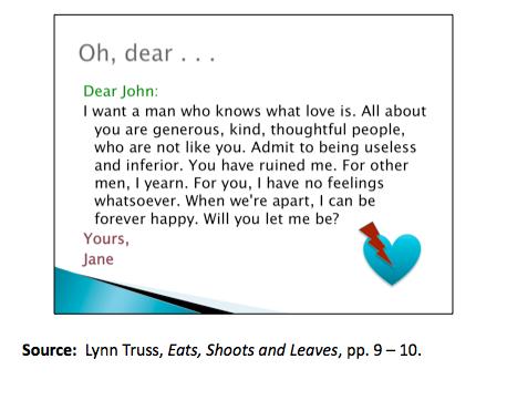 """Dear John"" break up letter - letter from Jane to John wanting to break up"