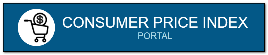 Logo from the Consumer Price Index Portal website featuring the site name and a shopping cart with a dollar sign