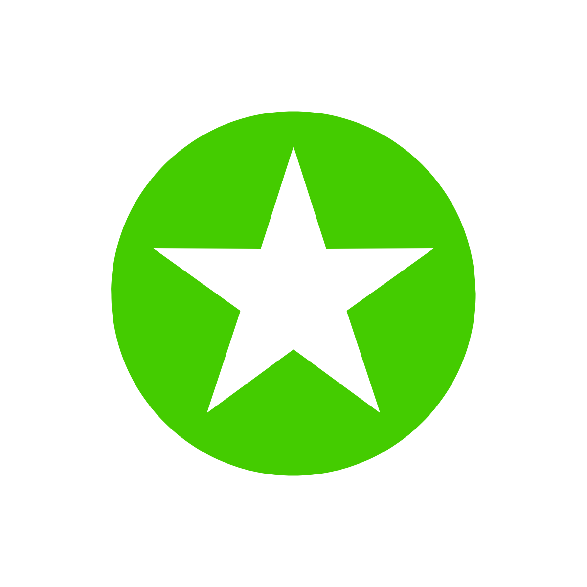 line drawing of a star on a green background