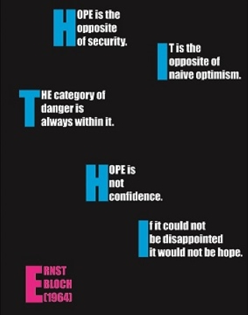 Robert R. Reid Typographical Image: Hope is the opposite of security