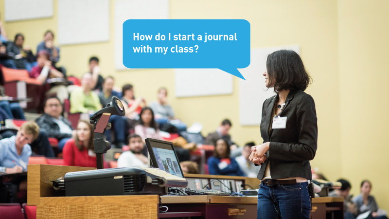 How do I start a journal with my class?