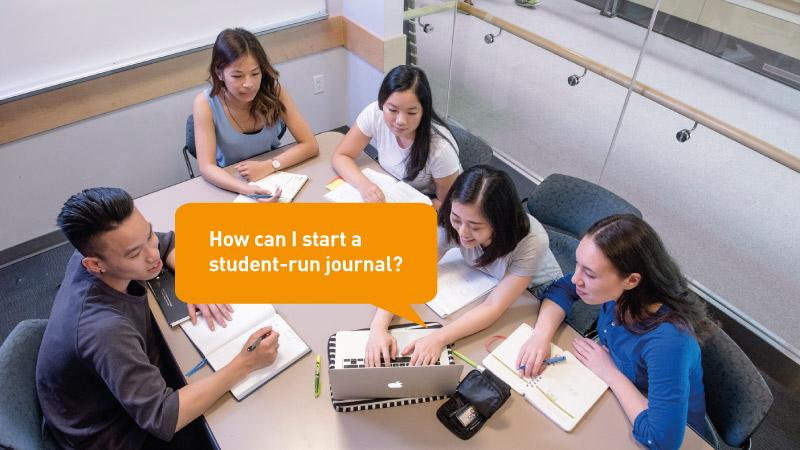 How can I start a student-run journal?