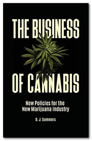 Screen capture of the cover of the book: The Business of Cannabis