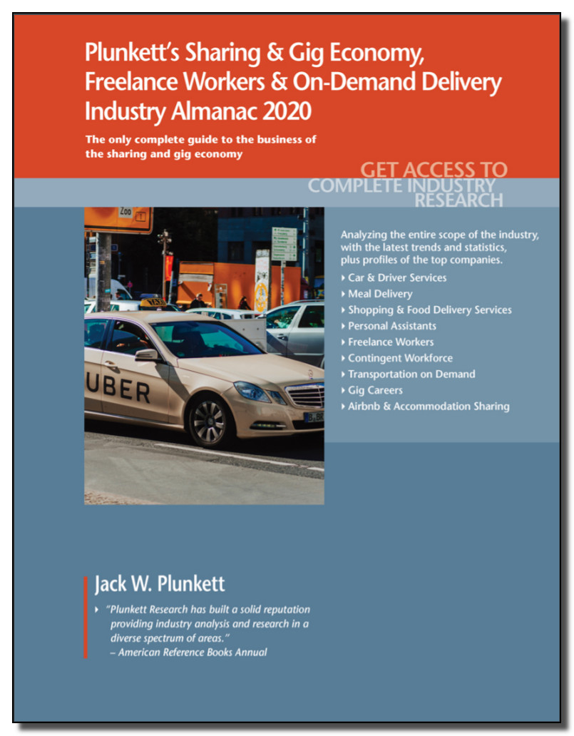 Image of the cover of the ebook: Plunkett's Sharing & Gig Economy, Freelance Workers & On-Demand Delivery Industry Almanac 2020