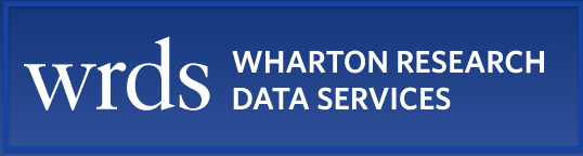 Logo for the WRDS financial dataset resource