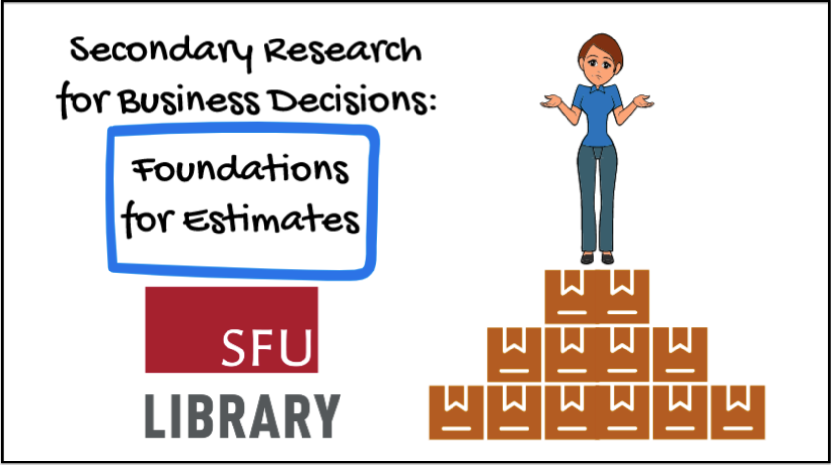 Cover image from video: Secondary Research for Business Decisions: Foundations for Estimates