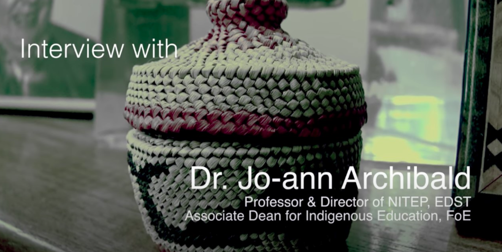 Interview with Dr Jo-ann Archibald (YouTube video)