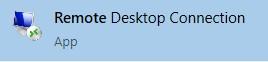 Remote Desktop Connection App button