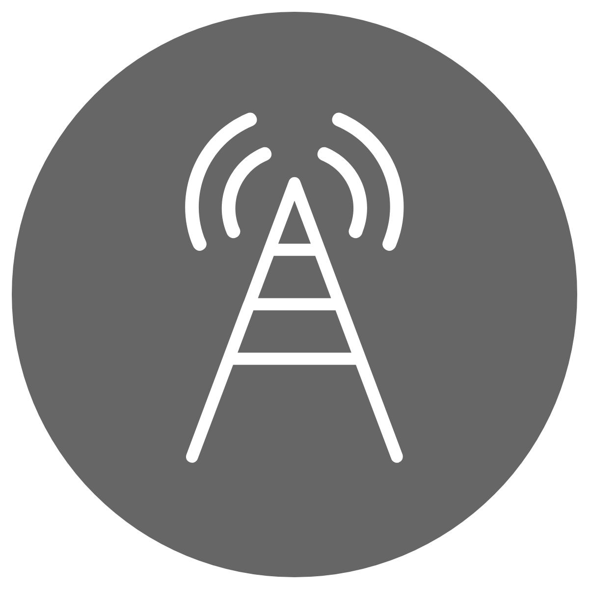simple line drawing of a mobile telecom tower