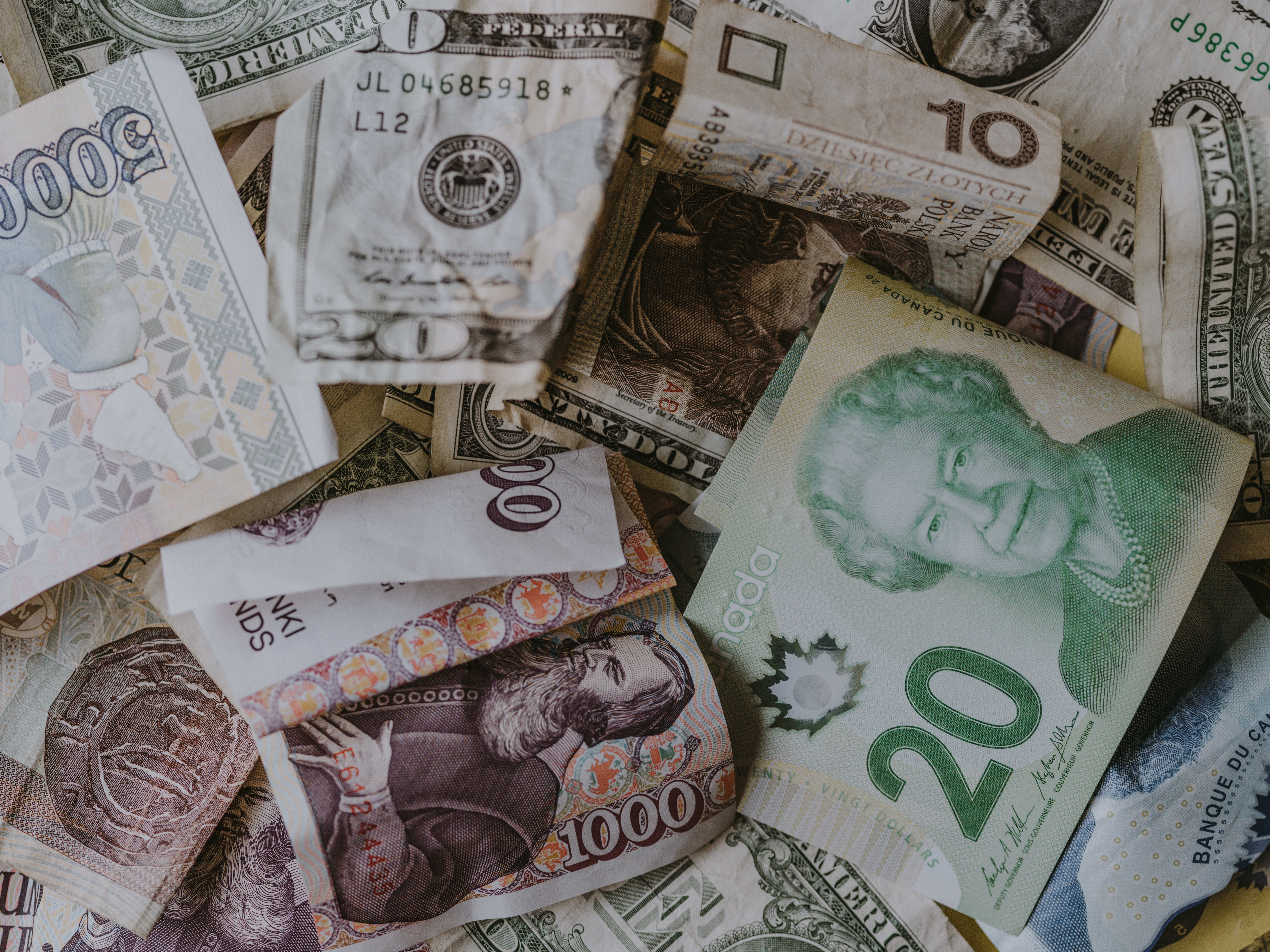 image of currency/money from various countries