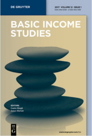 Cover of the journal: Basic Income Studies