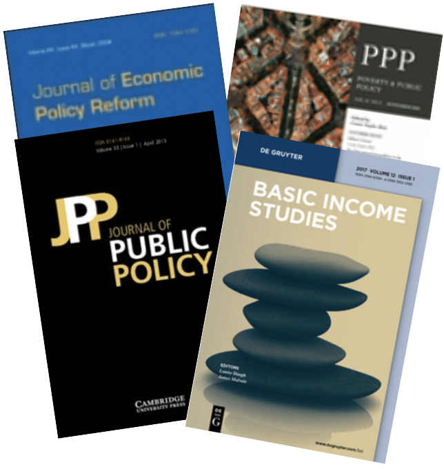 Covers of 4 academic journals