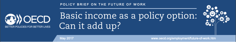 Title banner from OECD Policy Brief: Basic income as a policy option: Can it add up?