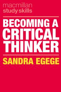 """Cover of ebook: """"Becoming a critical thinker"""""""