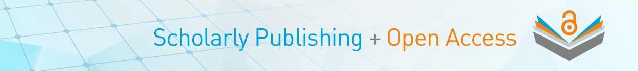 Scholarly Publishing and Open Access plus a stylized book with the open access symbol