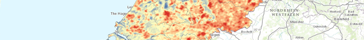 Map of Devastating 2003 Heat Wave in the Netherlands Observed from MODIS Satellite. Mehdi Aminipouri (PhD Candidate in Geography at SFU)